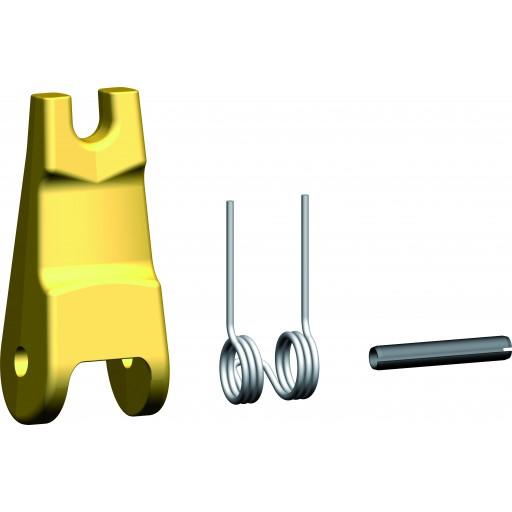 Geschmiedete Sicherungsfalle für vergrößerten Lasthaken mit Gabel und Sicherungsfalle VHKS/S FG-V 10