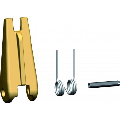 Geschmiedete Sicherungsfallengarnitur für Ösenlasthaken und Lasthaken mit Gabel FG/SUN