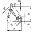 Lasthaken mit Gabel und geschmiedeter Sicherungsfalle HKS/SUN 8